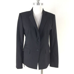 Ann Taylor M 8 Black Wool Blend Bi stretch Blazer